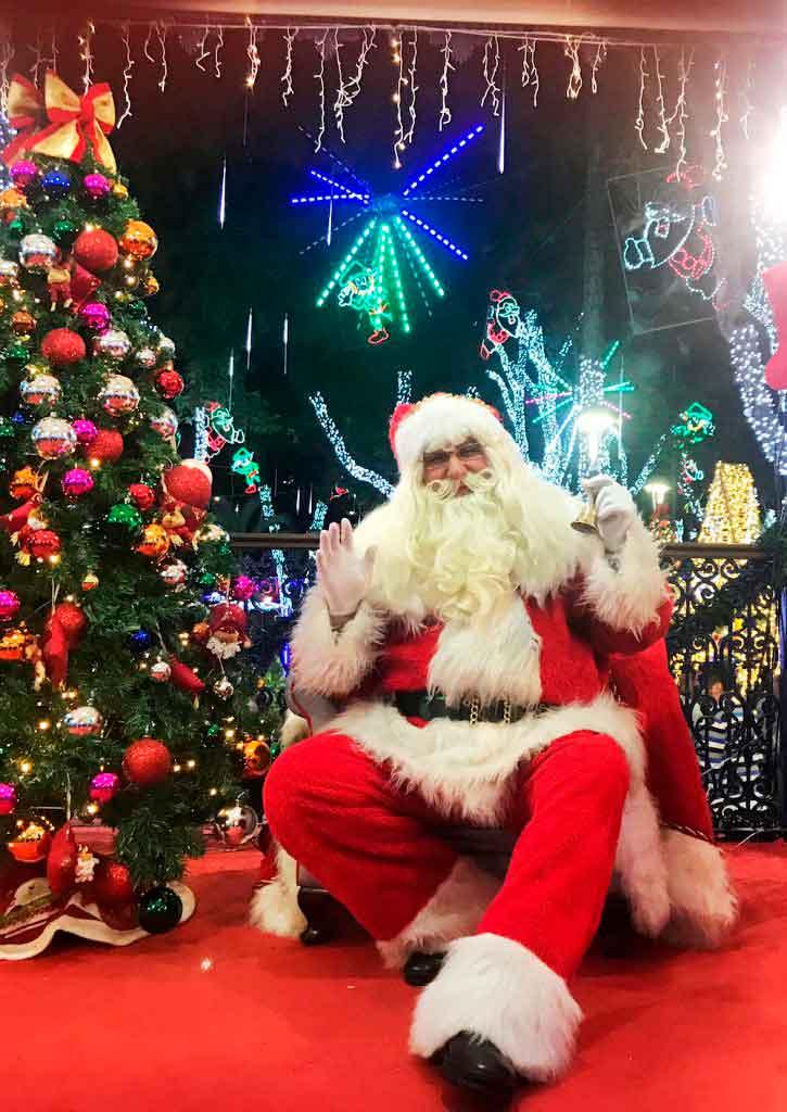 Confira os horários do Papai Noel no Natal Iluminado de Embu das Artes