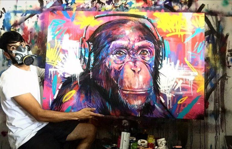 Cores marcantes! Conheça a arte do embuense Luan Ribeiróvisk