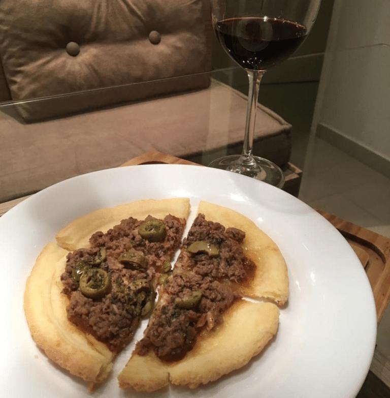 Pizza no Pão de Queijo PIZZETA